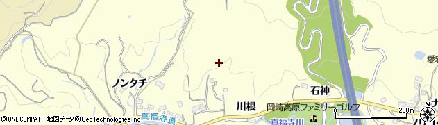 愛知県岡崎市駒立町周辺の地図