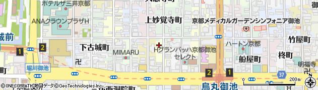 京都府京都市中京区下妙覚寺町周辺の地図