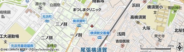 愛知県東海市横須賀町(狐塚)周辺の地図