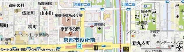京都府京都市中京区一之船入町周辺の地図
