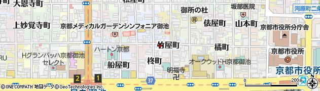 京都府京都市中京区竹屋町周辺の地図