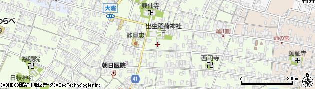 滋賀県日野町(蒲生郡)大窪周辺の地図