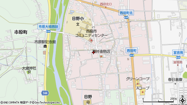 〒677-0003 兵庫県西脇市西田町の地図