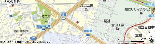 愛知県知立市西町(宮腰)周辺の地図