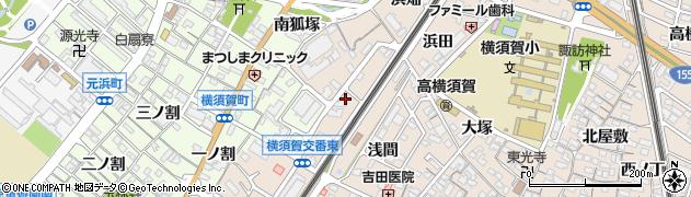 愛知県東海市高横須賀町(公家)周辺の地図