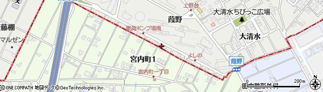 愛知県東海市富木島町(葭野)周辺の地図
