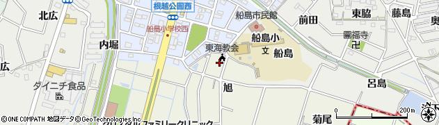 愛知県東海市加木屋町(旭)周辺の地図