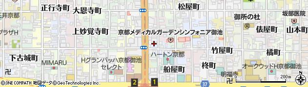 京都府京都市中京区西押小路町周辺の地図