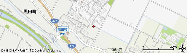 三重県四日市市黒田町周辺の地図