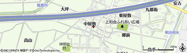 愛知県豊田市和会町(中屋敷)周辺の地図