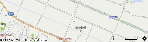 滋賀県日野町(蒲生郡)西大路周辺の地図