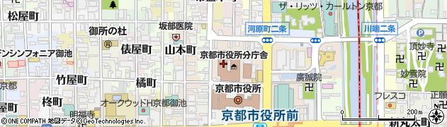 京都府京都市中京区榎木町周辺の地図