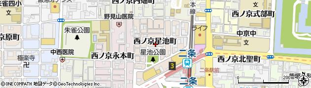 京都府京都市中京区西ノ京星池町周辺の地図