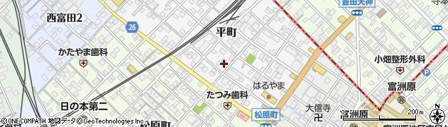 三重県四日市市平町周辺の地図