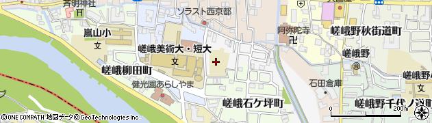 京都府京都市右京区嵯峨蜻蛉尻町周辺の地図