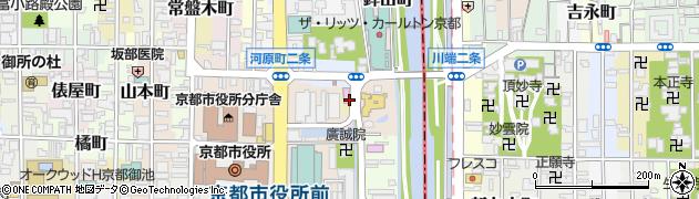 京都府京都市中京区西生洲町周辺の地図