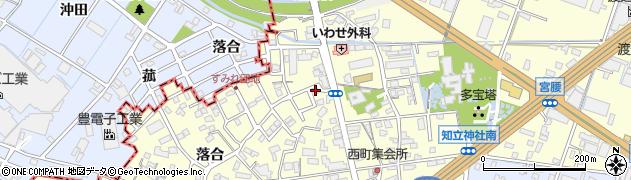 愛知県知立市西町(新川)周辺の地図