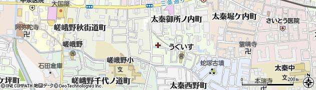 京都府京都市右京区太秦御所ノ内町周辺の地図