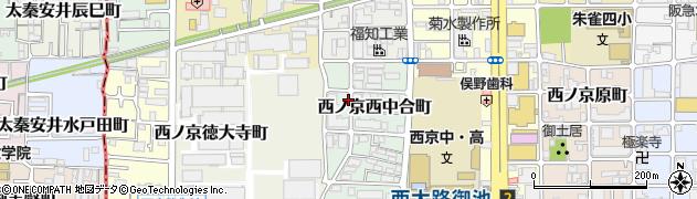 京都府京都市中京区西ノ京西中合町周辺の地図