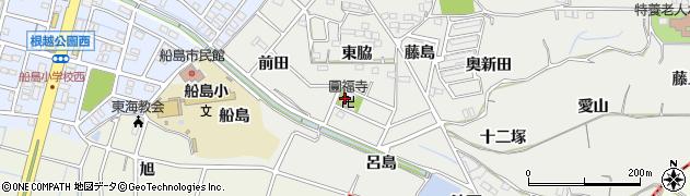 愛知県東海市富木島町(新呂島)周辺の地図
