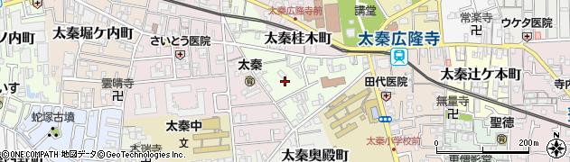 京都府京都市右京区太秦桂ケ原町周辺の地図
