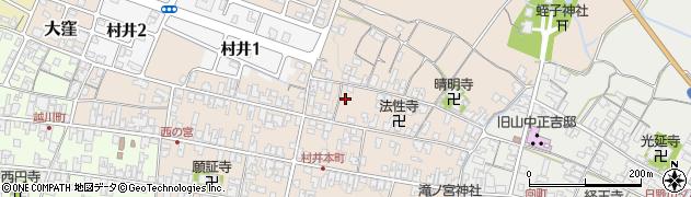 滋賀県日野町(蒲生郡)村井周辺の地図