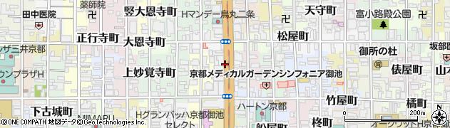 京都府京都市中京区秋野々町周辺の地図