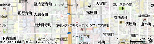 京都府京都市中京区仁王門突抜町周辺の地図