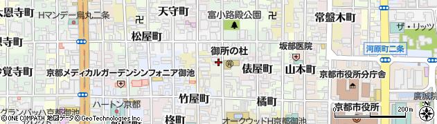 京都府京都市中京区等持寺町周辺の地図