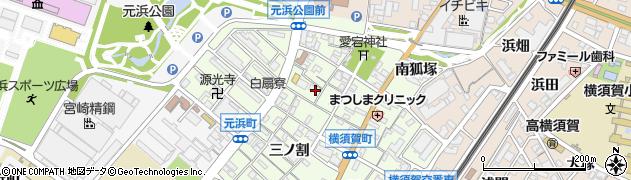 愛知県東海市横須賀町周辺の地図