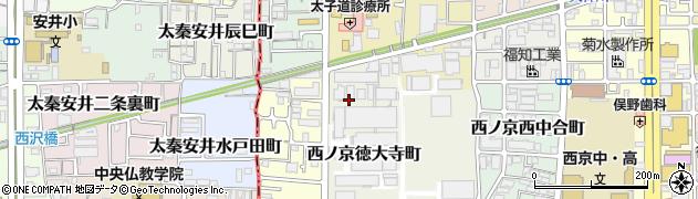 京都府京都市中京区西ノ京徳大寺町周辺の地図