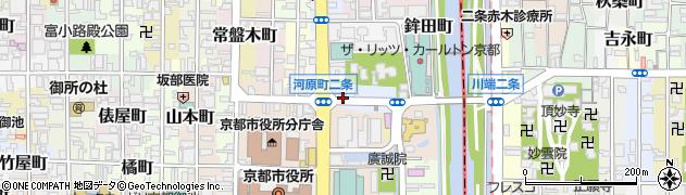 京都府京都市中京区樋之口町周辺の地図