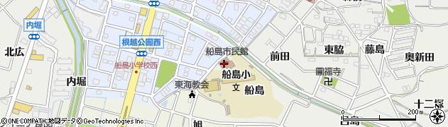 愛知県東海市富木島町(船島)周辺の地図