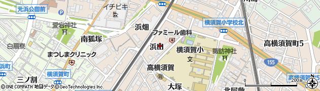 愛知県東海市高横須賀町(浜田)周辺の地図