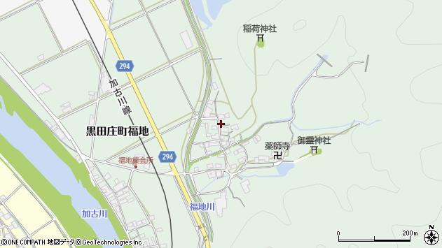 〒679-0314 兵庫県西脇市黒田庄町福地の地図