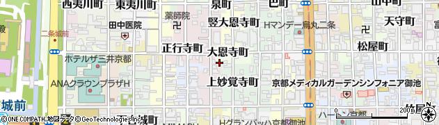 京都府京都市中京区大恩寺町周辺の地図