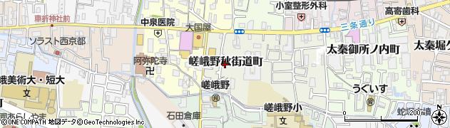 京都府京都市右京区嵯峨野秋街道町周辺の地図