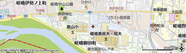 京都府京都市右京区嵯峨五島町周辺の地図