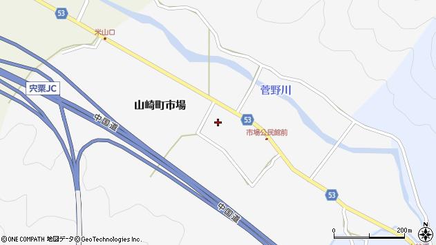 〒671-2566 兵庫県宍粟市山崎町市場の地図