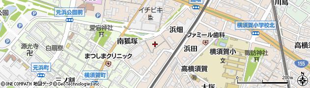 愛知県東海市高横須賀町(横狐塚)周辺の地図