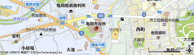 京都府亀岡市周辺の地図