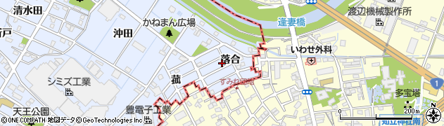 愛知県刈谷市一ツ木町(落合)周辺の地図