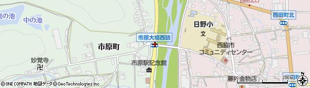 市原大橋西詰周辺の地図
