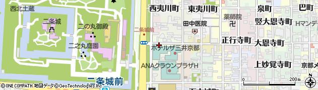 京都府京都市中京区矢幡町周辺の地図