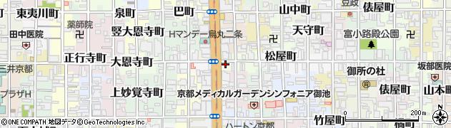 京都府京都市中京区仁王門町周辺の地図