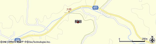 愛知県岡崎市大柳町(桜田)周辺の地図