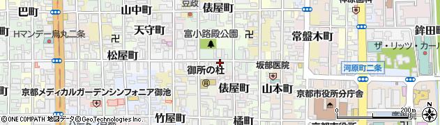 京都府京都市中京区晴明町周辺の地図