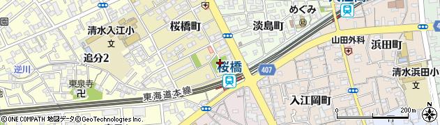 文珠稲荷周辺の地図