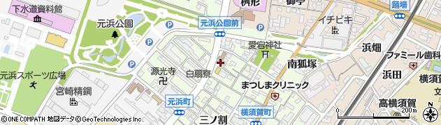 愛知県東海市横須賀町(浜屋敷)周辺の地図