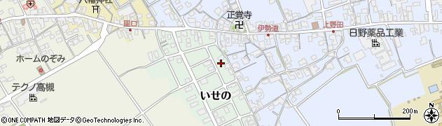 滋賀県日野町(蒲生郡)いせの周辺の地図